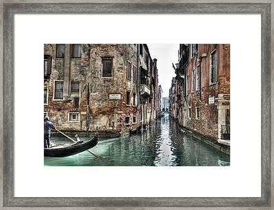 La Veste In Venice Framed Print by Marion Galt