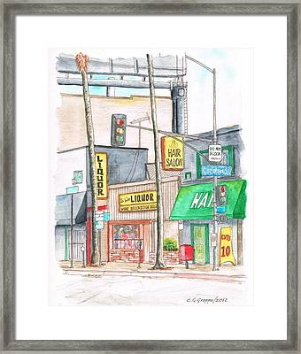 La Vida Liquor And Hair Salon -in Sunset Blvd - Hollywood - California Framed Print by Carlos G Groppa