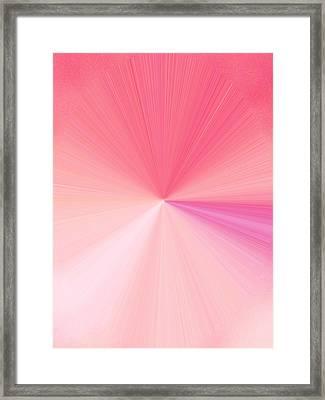 La Vie En Rose 02  3.23.14 Framed Print by Rozita Fogelman