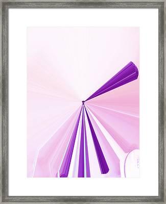 La Vie En Rose 06  3.23.14 Framed Print by Rozita Fogelman