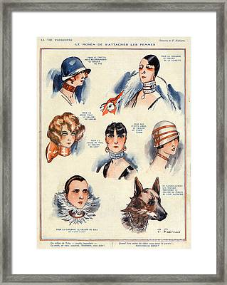 La Vie Parisienne 1924 1850s France F Framed Print by The Advertising Archives