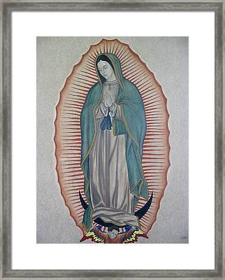 La Virgen De Guadalupe Framed Print by Lynet McDonald