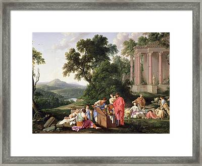 Laban Searching For The Idols, 1647 Oil On Canvas Framed Print by Laurent de La Hyre