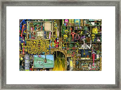 Laboratory Framed Print by Colin Thompson