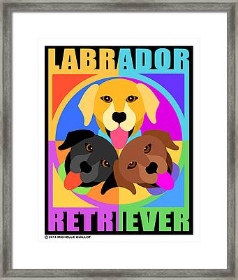 Labrador Retrievers Framed Print by Michelle Guillot