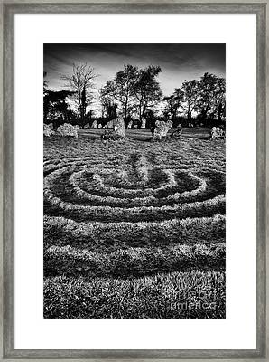 Labyrinth At Rollright Framed Print by Tim Gainey