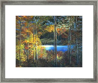 Lac Fortune Gatineau Park Quebec Framed Print by LaVonne Hand