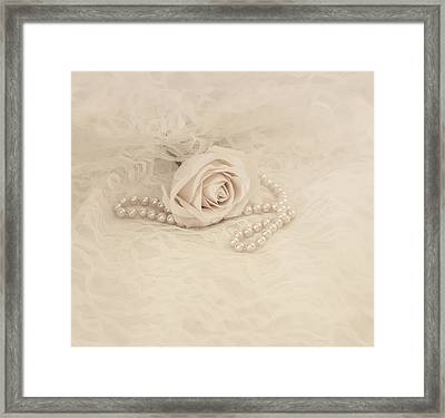 Lace And Promises Framed Print by Kim Hojnacki