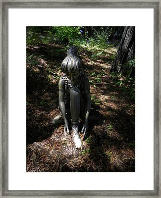 Lacing Slippers Framed Print by Frank Wilson