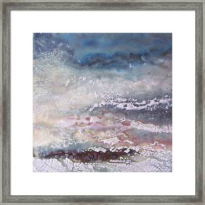 Lacy Surf Framed Print by Victoria Primicias
