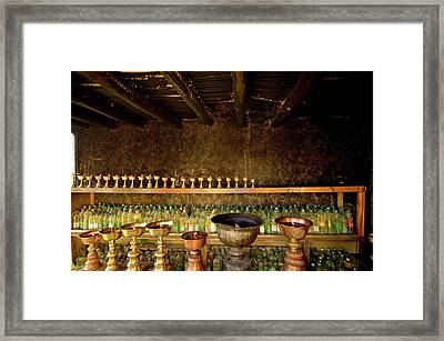 Ladakh, India  Yak Butter Lamps Framed Print by Jaina Mishra