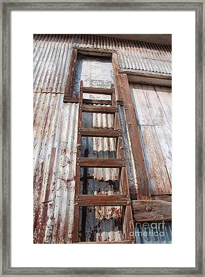 Ladder 1 Framed Print by Minnie Lippiatt