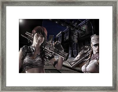 Ladies Night Armed And Dangerous Framed Print by Peter Chilelli