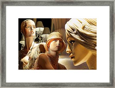 Ladies Of Rodeo Drive Framed Print by Chuck Staley
