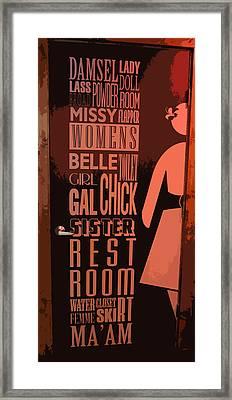 Ladies Room Framed Print by Patricia Januszkiewicz