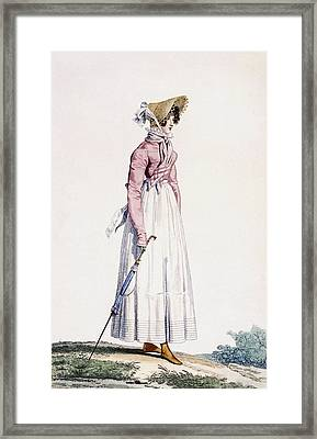 Ladies Summer Dress Framed Print by Antoine Charles Horace Vernet