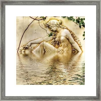 Lady Bathing 2 Framed Print by Kaye Menner