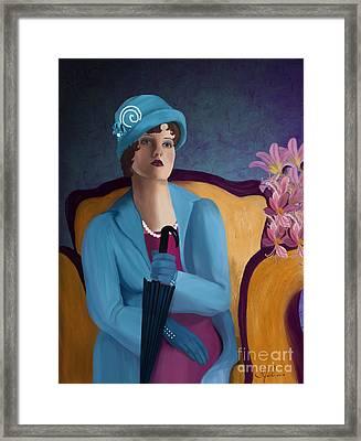 Lady Blue Framed Print by Sydne Archambault