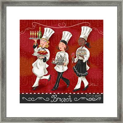 Lady Chefs - Brunch Framed Print by Shari Warren