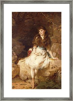 Lady Edith Amelia Ward Daughter Of The First Earl Of Dudley Framed Print by George Elgar Hicks