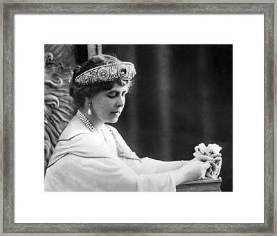 Queen Elizabeth The Queen Mother Framed Print by Underwood Archives