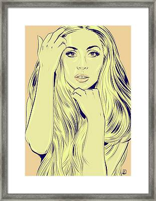 Lady Gaga Framed Print by Giuseppe Cristiano