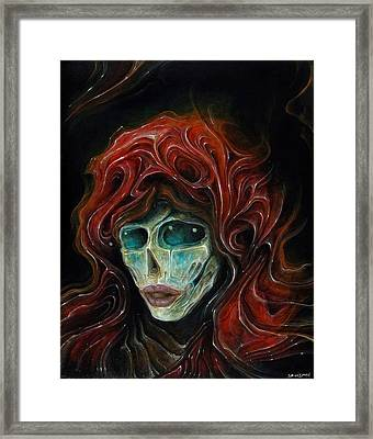 Lady Goddess Of The Night Framed Print by Robert Anderson