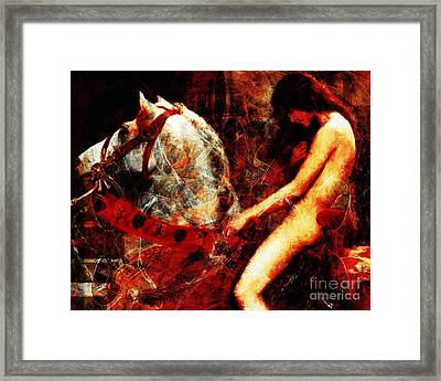 Lady Godiva Revisited 20140315v2 Horizontal Framed Print by Wingsdomain Art and Photography
