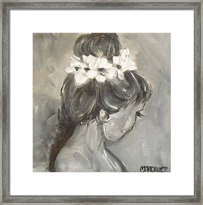 Lady In Grey Framed Print by Melissa Torres