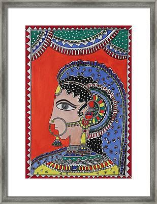 Lady In Ornaments Framed Print by Shakhenabat Kasana