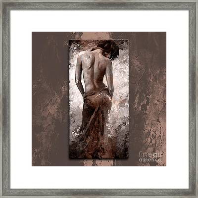 Lady In Red 27 Style Dark Mistyrose Framed Print by Emerico Imre Toth