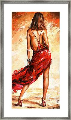 Lady In Red 40 Framed Print by Emerico Imre Toth