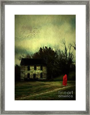 Lady In Red Framed Print by Darren Fisher