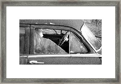 Lady In The Old Dodge Framed Print by David Lee Thompson