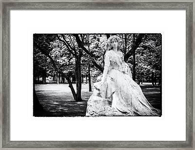 Lady In The Park Framed Print by Georgia Fowler