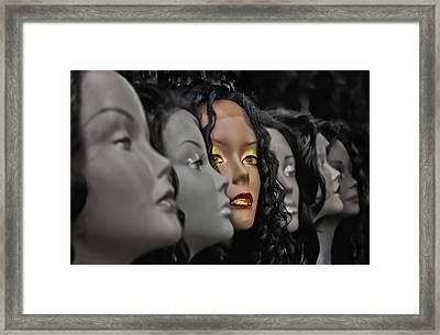 Lady In Waiting Framed Print by Debra and Dave Vanderlaan