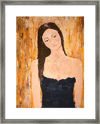 Lady In Waiting Framed Print by Kathy Peltomaa Lewis