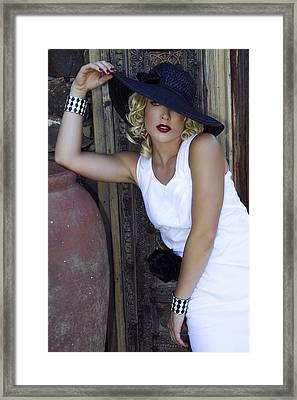 Lady In White Palm Springs Framed Print by William Dey