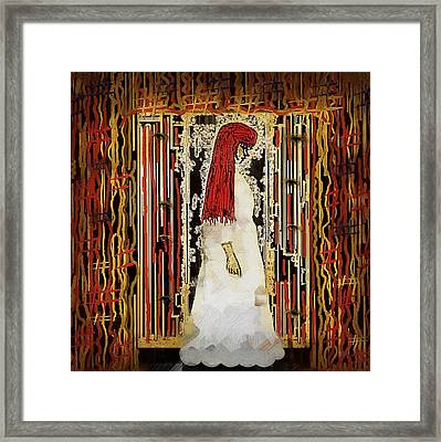 Lady In White Framed Print by Pepita Selles