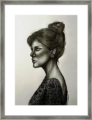 Lady Lace Framed Print by Bonnie Leeman