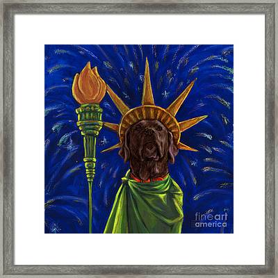 Lady Liberty - Chocolate Framed Print by Kathleen Harte Gilsenan