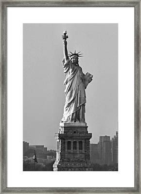 Lady Liberty Black And White Framed Print by Kristin Elmquist