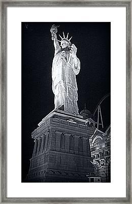 Lady Liberty Framed Print by Kay Novy