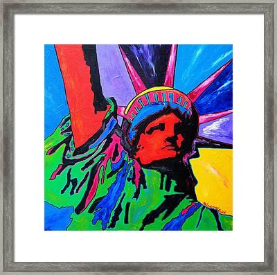 Lady Liberty Framed Print by Patti Schermerhorn