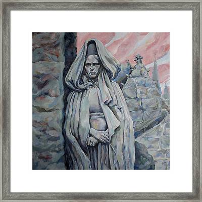 Lady Of Breton Framed Print by Derrick Higgins