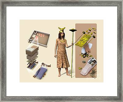 Lady Of Cao, Artwork Framed Print by Jos� Antonio Pe�as