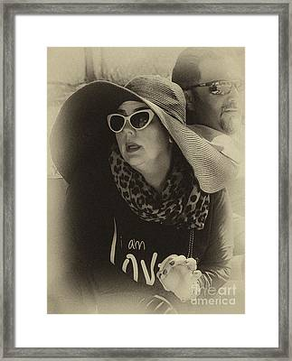 Lady Of Fashion Framed Print by Rene Triay Photography