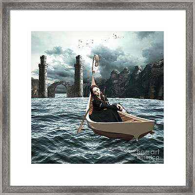 Lady Of Llyn-y-fan Fach Framed Print by Linda Lees