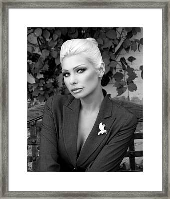 Lady Of Solitude Bw Palm Springs Framed Print by William Dey