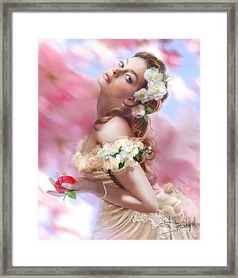 Lady Of The Camellias Framed Print by Drazenka Kimpel